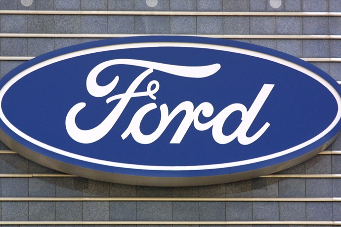DEARBORN, MI - MAY 29_  (FILE PHOTO) Ford's logo is shown at the Ford Motor Company's world headquarters complex May 29, 2003 in_6023418190650691556