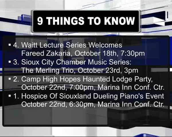 This Week in Siouxland 10/16/16