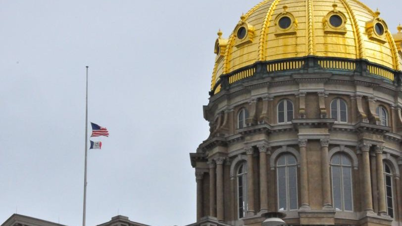 Flags at half-staff with dome_0 office of governor wide_1518719087953.jpg.jpg