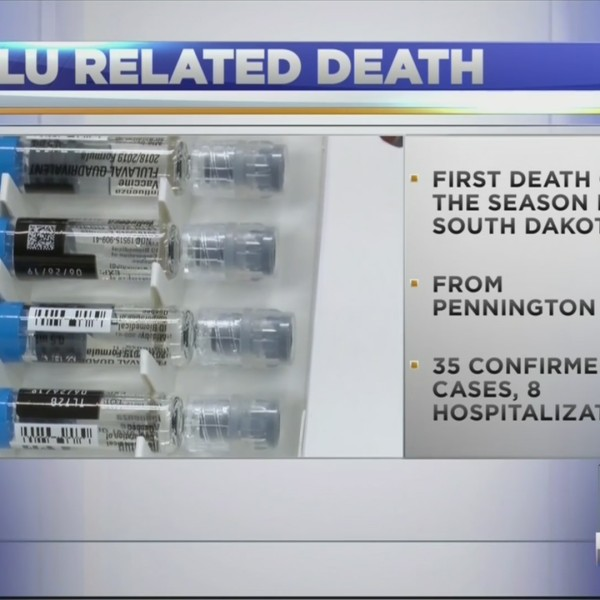 First flu death of the season reported in South Dakota