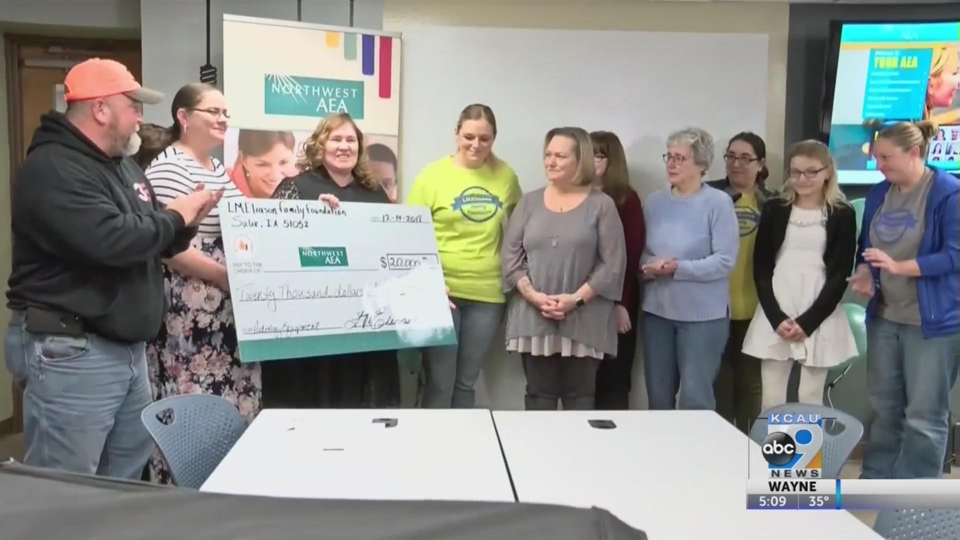 $20,000 Donation To Northwest AEA