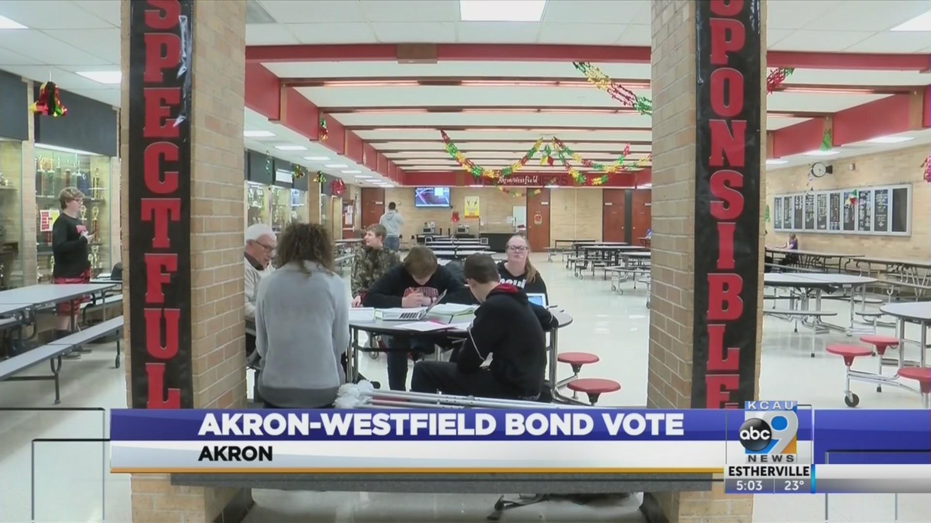 Third Vote on Akron-Westfield Bond