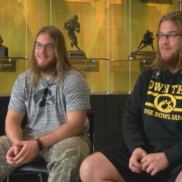 Levi and Landon Paulsen cut their hair