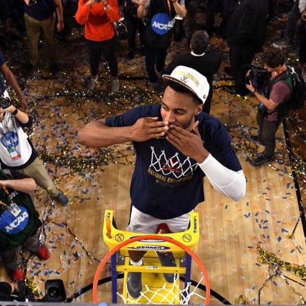 Virginia celebrates win