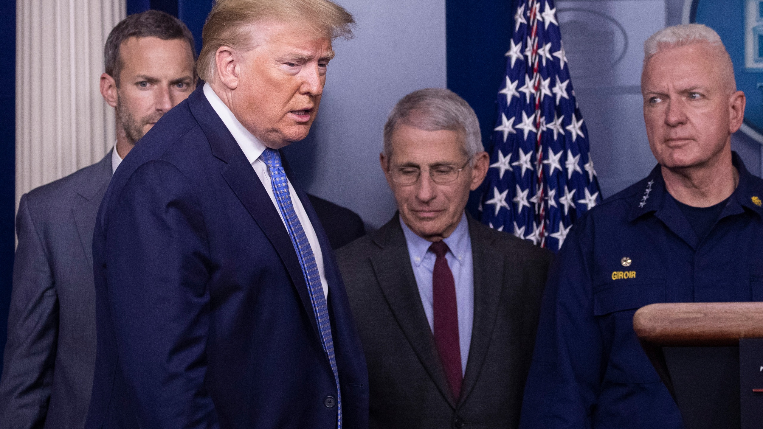 Donald Trump, Anthony Fauci, Brett Giroir