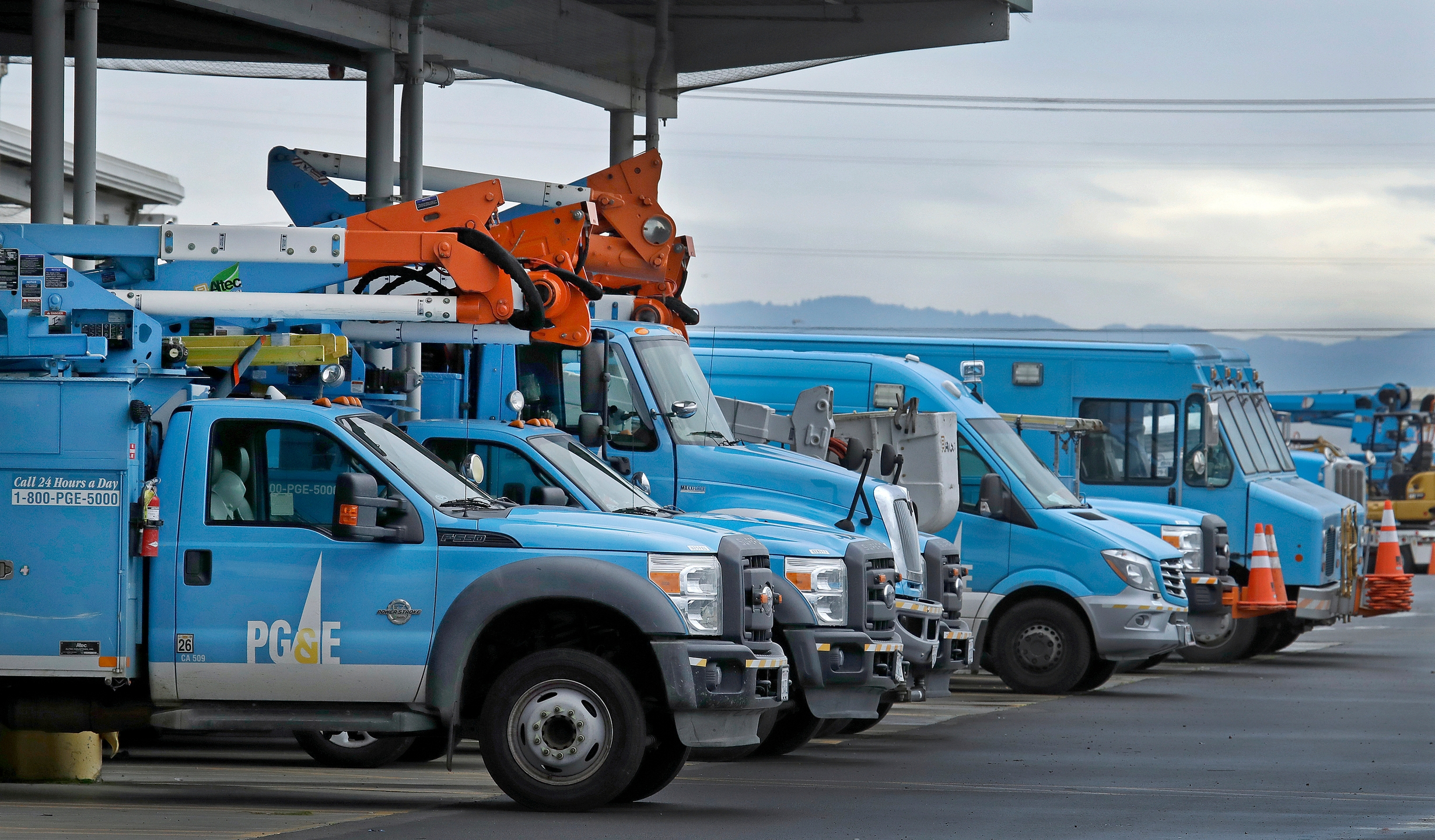 PG & E Work Vehicles