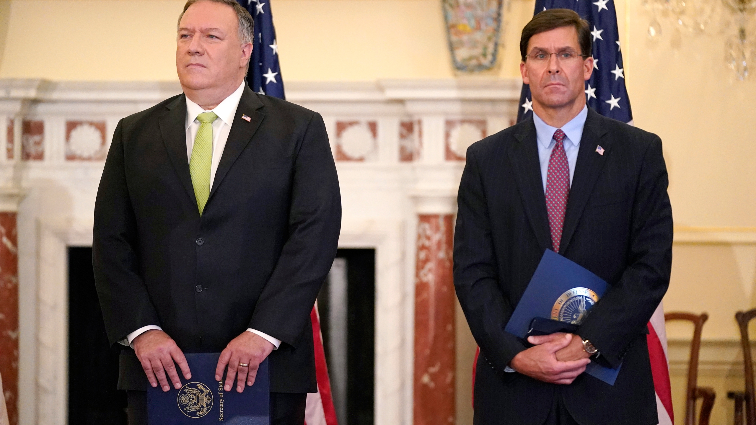 Mike Pompeo, Mark Esper