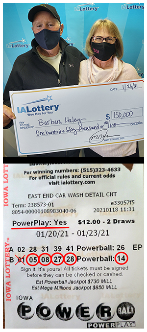 Barbara Haley,Iowa lottery, powerball,ticket,