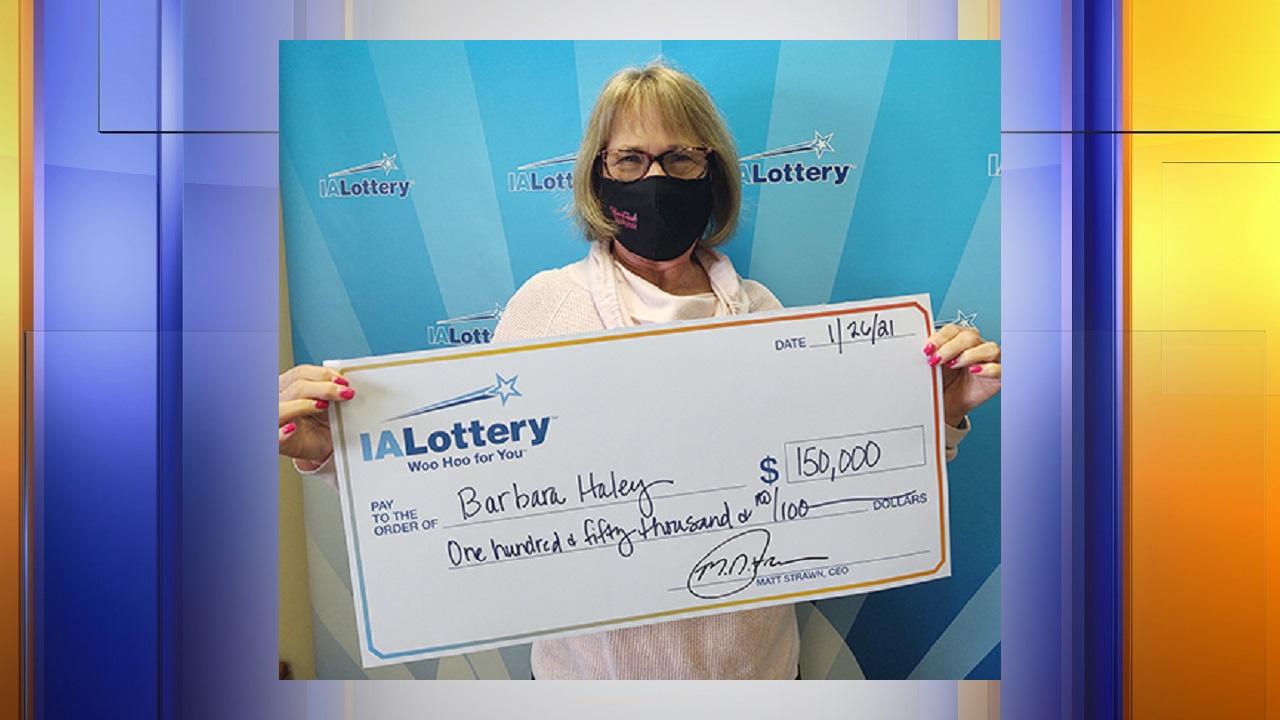Barbara Haley,Iowa lottery, powerball,ticket,