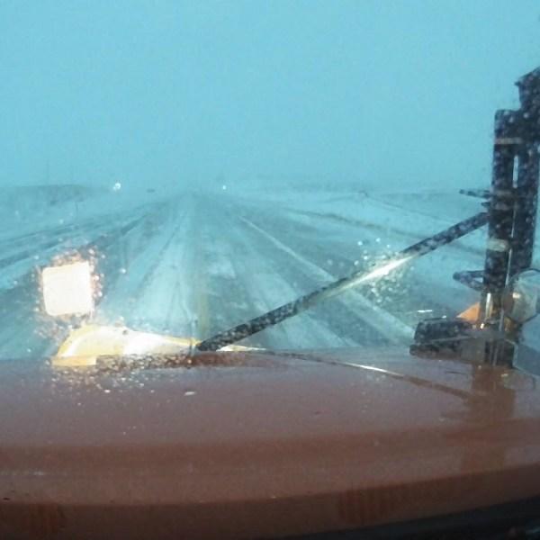 snow plow, iowa DOT, near orange city, Jan 15 733AM