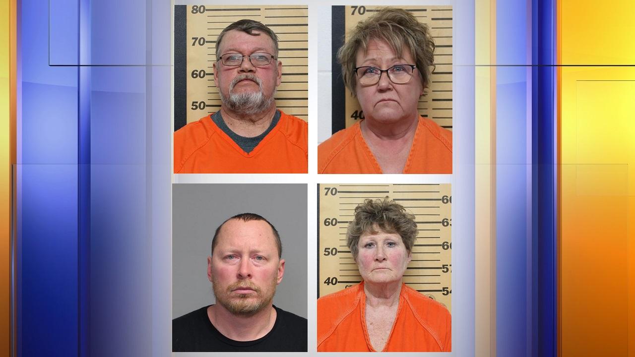 Armstrong, iowa, Mayor Greg Buum, City Clerk Tracie Lang, Police Chief Craig Merrill, and former city clerk Connie Thackery,kcau