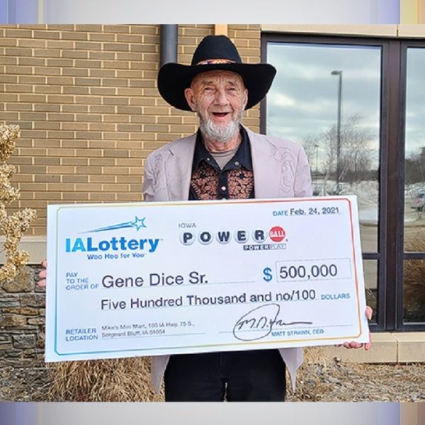 Gene Dice Sr.,Iowa Lottery,powerball,ticket,